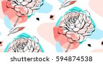 hand drawn vector abstract... | Shutterstock .eps vector #594874538