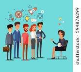 concept of exam. creative... | Shutterstock .eps vector #594876299