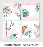 hand drawn vector abstract save ... | Shutterstock .eps vector #594876824