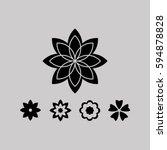 flower   Shutterstock .eps vector #594878828