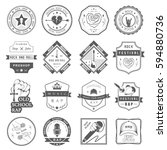 set of  badges and logos of... | Shutterstock . vector #594880736