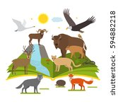 book about the national parks... | Shutterstock .eps vector #594882218