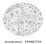 oval design element with space... | Shutterstock .eps vector #594882734