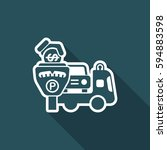 wrecker parking area | Shutterstock .eps vector #594883598