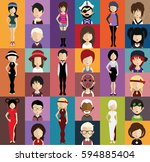 people avatar   with full body... | Shutterstock .eps vector #594885404