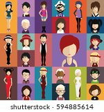 people avatar   with full body... | Shutterstock .eps vector #594885614