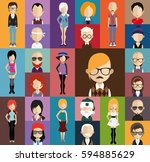 people avatar   with full body... | Shutterstock .eps vector #594885629