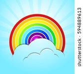 vector illustration rainbow ... | Shutterstock .eps vector #594889613