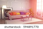 interior with sofa. 3d... | Shutterstock . vector #594891770