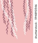 willow branches on a pink... | Shutterstock .eps vector #594893546