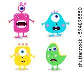 set of cute cartoon monsters....