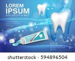 whitening toothpaste ads... | Shutterstock .eps vector #594896504
