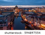 Stock photo berlin view to the berliner dom at sunset 594897554