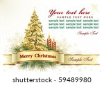 christmas greeting card | Shutterstock .eps vector #59489980