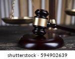 court gavel law theme  mallet... | Shutterstock . vector #594902639