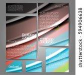 corporate identity template set.... | Shutterstock .eps vector #594906638