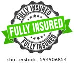 fully insured. stamp. sticker.... | Shutterstock .eps vector #594906854