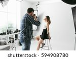 professional photo shooting at... | Shutterstock . vector #594908780