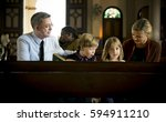 church people believe faith... | Shutterstock . vector #594911210