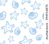 vector seamless pattern with... | Shutterstock .eps vector #594914870