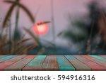 selected focus empty wooden... | Shutterstock . vector #594916316