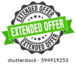 extended offer. stamp. sticker. ... | Shutterstock .eps vector #594919253