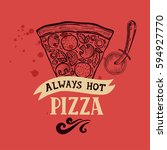 pizza menu graphic element for...