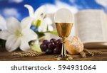 sacrament of communion ... | Shutterstock . vector #594931064