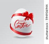 happy easter egg lettering... | Shutterstock .eps vector #594936944