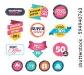 sale stickers  online shopping. ... | Shutterstock . vector #594940763