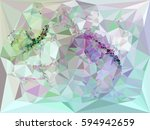 abstract multicolor mosaic... | Shutterstock . vector #594942659
