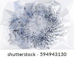 abstract multicolor mosaic... | Shutterstock . vector #594943130