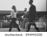city life urban scene rush hour ... | Shutterstock . vector #594945200