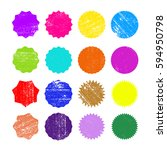 different starburst sunburst... | Shutterstock .eps vector #594950798