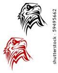 Eagle Symbol Isolated On White...