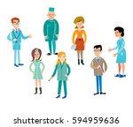 doctors vector | Shutterstock .eps vector #594959636