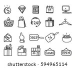 icon business shopping web... | Shutterstock .eps vector #594965114