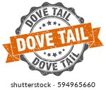 dove tail. stamp. sticker. seal.... | Shutterstock .eps vector #594965660