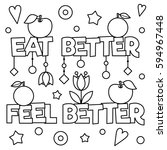 coloring page. vector... | Shutterstock .eps vector #594967448