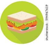 sandwich vector icon | Shutterstock .eps vector #594967619