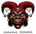 laughing angry joker  character ...   Shutterstock . vector #594968540