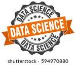 data science. stamp. sticker.... | Shutterstock .eps vector #594970880