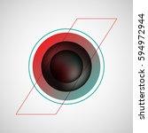 black premium bubble badge ... | Shutterstock .eps vector #594972944