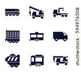 trailer icons set. set of 9...   Shutterstock .eps vector #594976508