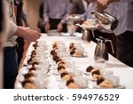coffee break at conference... | Shutterstock . vector #594976529