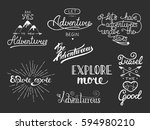 set of adventure and travel... | Shutterstock .eps vector #594980210