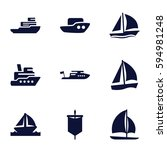 sail icons set. set of 9 sail... | Shutterstock .eps vector #594981248
