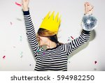 birthday party  new year... | Shutterstock . vector #594982250