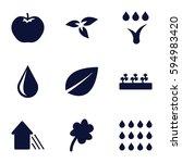 Eco Icons Set. Set Of 9 Eco...