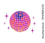 disco ball vector icon | Shutterstock .eps vector #594989153